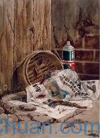 Watercolour Painting of Rubbish